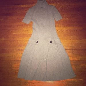 Pleated sweater dress small